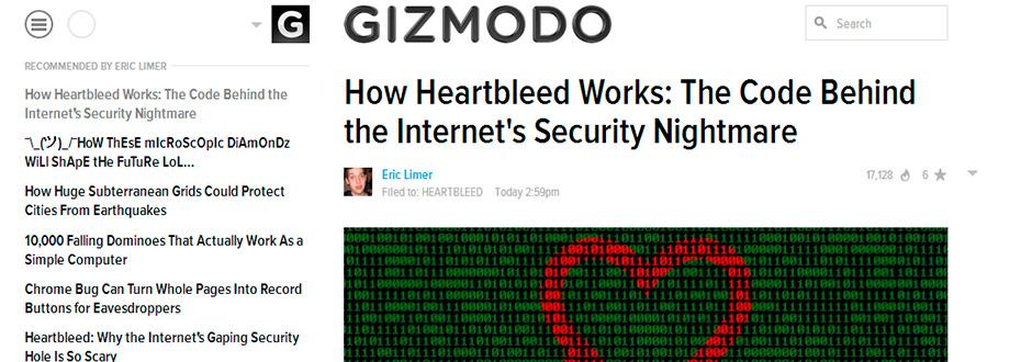 Heartbleed fra Gismodo